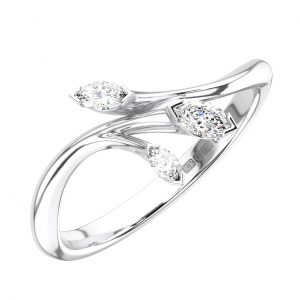 FR1259 Claw Set Marquise Cut Diamonds White Gold Wedding Ring (7)