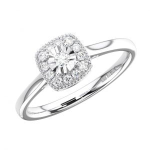 FR1271 Illusion Setting Round Brilliant Cut Diamond White Gold Engagement Ring (6)