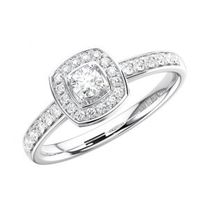 FR1274 Claw Set Round Brilliant Cut Diamonds White Gold Half Eternity Ring (5)