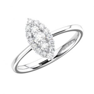 FR1288 Pave Set Round Brilliant Cut Diamond White Gold Engagement Ring (5)
