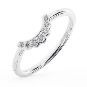 FR1358 Channel Set Round Brilliant Cut Daimond White Gold Wedding Ring (2)