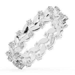 FR1364 Claw Set Round Brilliant Cut Diamonds White Gold Full Eternity Wedding Ring (3)