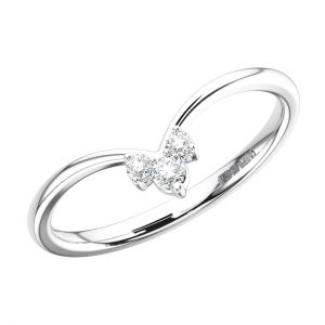 FR1671 Claw Set Round Brilliant Cut Diamonds White Gold Wedding Ring (2)