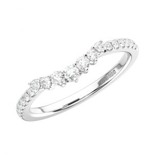 FR1672 Claw Set Round Brilliant Cut Diamonds White Gold Half Eternity Ring (1)