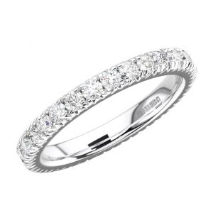 RFR001F Pave Set Round Brilliant Cut Diamond White Gold Full Eternity Ring (4)