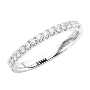 FR1516-2-40 Fishtail Set Round Brilliant Cut Diamonds Half Eternity Ring in White Gold (4)