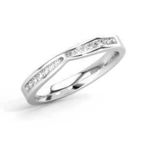 FR0508 Channel Set Round Brilliant Cut Diamond White Gold Half Eternity Ring (4)