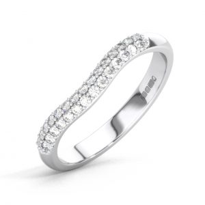 D36008 Round Brilliant Cut Diamonds Half Eternity Wedding Ring in White Gold -01 (6)