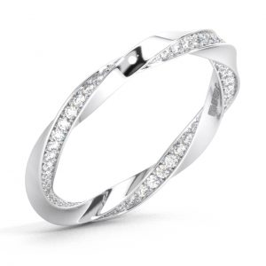 F2.5R1058 Round Brilliant Cut Diamonds Full Eternity Wedding Ring in White Gold (1)