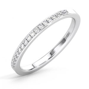 F2R2000 Pave Set Round Diamonds Half Eternity Ring White Gold (1)