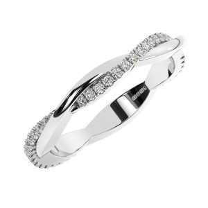 F2.5R1053 Fishtail Set Round Brilliant Cut Diamonds Full Eternity Ring in White Gold (4)