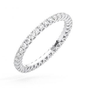FR1769-1.7-100 Fishtail Set Round Brilliant Cut Diamond Full Eternity Ring in White Gold (5)
