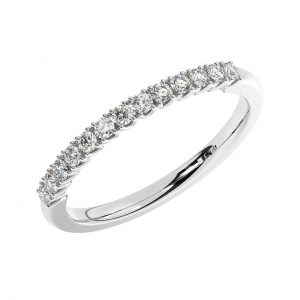 FR1769-1.7-40 Fishtail Set Round Brilliant Cut Diamond Half Eternity Ring in White Gold (4)
