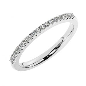 F15R1759H40 Claw Set Round Brilliant Cut Diamond Half Eternity Ring in White Gold (2)