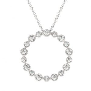 FP636A Bezel Set Round Brilliant Cut Diamond Pendent in White Gold (4)