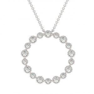 FP636A Bezel Set Round Brilliant Cut Diamond Pendent in White Gold (4)