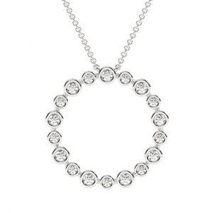 FP636B Bezel Set Round Brilliant Cut Diamond Pendent in White Gold (6)