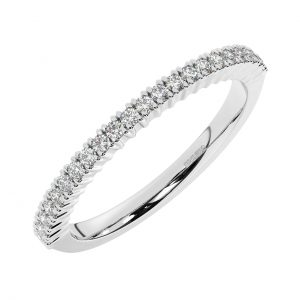 FR1753H501.5 Claw Set Round Brilliant Cut Diamond Half Eternity Ring in White Gold (1)