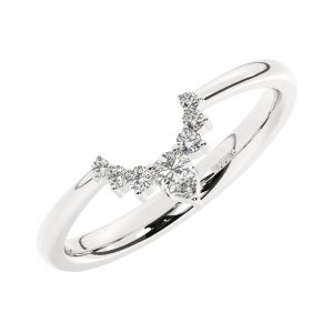 FR1760 Prong Set Round & Pear Cut Diamond Wishbone Ring in White Gold (7)