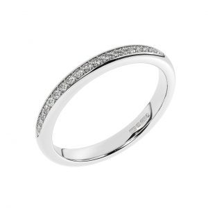 F25R2018 Pave Set Round Brilliant Cut Diamonds Half Eternity Ring in White Gold (1)