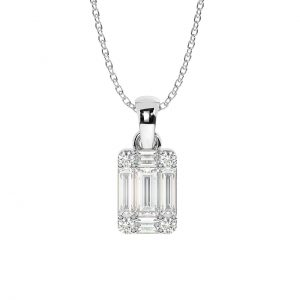 FP654 Pave Set Round Brilliant & Baguette Cut Diamond Pendant in White Gold (2)