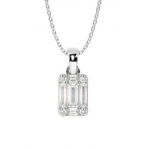 FP654 Pave Set Round Brilliant & Baguette Cut Diamond Pendant in White Gold (2)