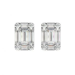 FPE654 Pave Set Round Brilliant & Baguette Cut Diamond Sutd Earring in White Gold (8)