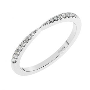 FR1805 Fishtail Set Round Brilliant Cut Diamond Half Eternity Ring- 1