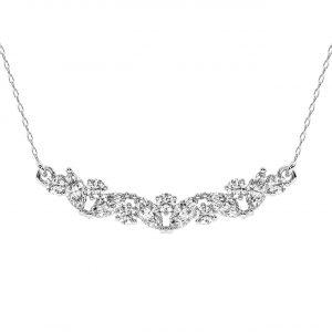 FP679 Claw Set Round Brilliant & Marquise Cut Diamond Pendant-1