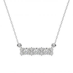 FP686 Prong Set Round Brilliant Cut Diamond Pendant-1