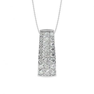 FP689 Pave Set Round Brilliant Cut Diamond Pendant-1