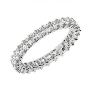 FR1862 Claw Set Princess Brilliant Cut Diamond Full Eternity Ring-1