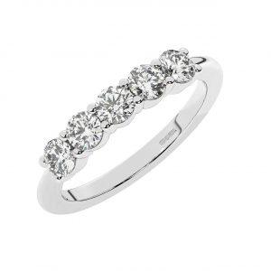 FR1983 Claw Set Round Brilliant Cut Diamonds Half Eternity Ring-1