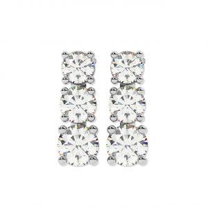 FE1904 0.26ct Claw Set Round Brilliant Cut Diamonds Stud Earrings-1