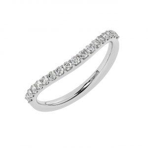 FR0132 0.25cts Prong Set Round Brilliant Cut Diamond Half Eternity Ring-1