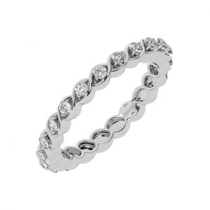 FR2051 0.35cts Pave Set Round Brilliant Cut Full Eternity Ring-1