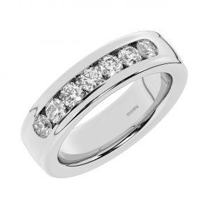 FR2230 6.5mm, Round Brilliant Diamond Men Heavyweight Wedding Ring-1